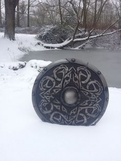 Shield in winter, but where is the warrior that bore it?<-- kool