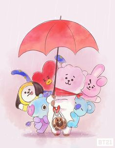 Ideas for wall paper bts kawaii Bts Chibi, Jungkook Jimin, Bts Bangtan Boy, Foto Bts, Bts Kawaii, Fanart Bts, Les Bts, Line Friends, Bts Drawings