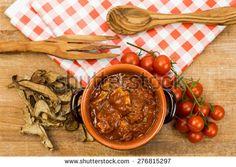 mushroom red sauce - stock photo