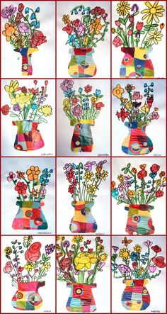 What a bunch of flowers, video for inspiration, still life, overlapping, organic shapes, ...