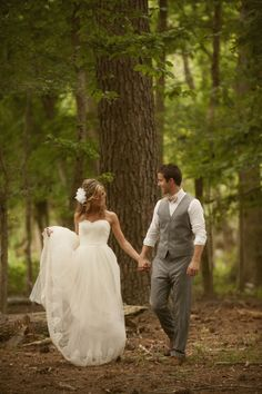 Forest Wedding. Gray Suit.