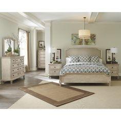 Stonehill Dark Brown Pecan Wood 5pc Bedroom Set w/King Kd Poster Bed ...