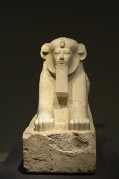 https://flic.kr/p/SxniXS | Hatshepsut as Maned Sphinx | From the temple of Hatshepsut, Deir el Bahri, Thebes. Dynasty 18, joint reign of Hatshepsut & Tutmosis III (c. 1473-1458 BCE).