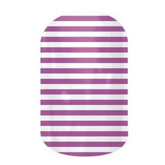 Orchid Skinny by Jamberry Nail Wraps. Filled with classic lines and fun polka dots, the Dotted Line collection is perfect to wear with our bolder wraps or wear on their own. Appropriate for any setting, these wraps are an essential part of any nail lover's collection. Lasts up to 2 weeks on fingernails and 4 weeks on toenails.