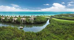 Fairmont Mayakoba (Carretera Federal Cancun - Playa del Carmen Km 298) This luxury AAA Five Diamond Award winner resort in the Riviera Maya is made up of a series of low-rise buildings connected by waterways. It is surrounded by a lush tropical forest and offers wonderful sea views. #bestworldhotels #travel #mx #playadelcarmen