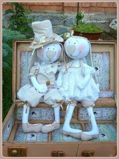 Куклёнки от Алёнки: Свадебные зайцы.