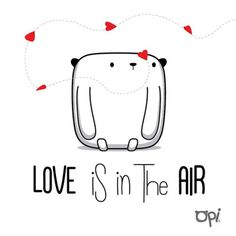#Love is in the air #opi #cute #kawaii #illustration #ilustración #draw #dibujo