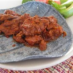 This is a wonderful, melt in your mouth recipe for Carne Adovada. My family absolutely loves it and I am sure you will too. Mexican Dishes, Mexican Food Recipes, Beef Recipes, Cooking Recipes, Goat Recipes, Mexican Menu, Mexican Cooking, Recipies, Adovada Recipe