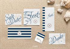 "Wedding Card-Set ""Long Island"""