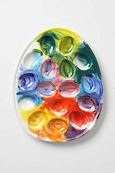painters palette egg caddy, Love this idea enough to actually make deviled eggs after making the egg palette!