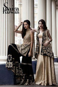 I love the portrait collar Pakistani Fashion Party Wear, Pakistani Wedding Outfits, Pakistani Couture, Indian Party Wear, Pakistani Dresses, Indian Dresses, Indian Fashion, Frock Fashion, Fashion Dresses