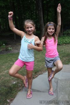 Partner Yoga Poses to build cooperation, focus, balance, and strength (it's also tons of fun!)