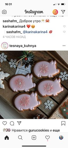 Pig Cookies, Edible Cookies, Cute Cookies, Sugar Cookies, Christmas Treats, Christmas Cookies, Party Desserts, Let Them Eat Cake, Cookie Decorating