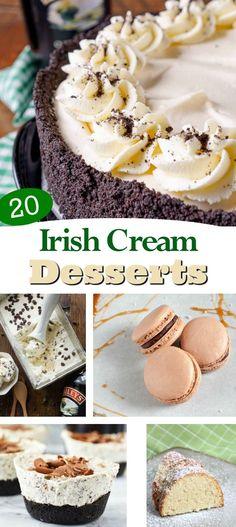 Irish Cream Desserts