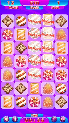 Sweetie Match - Match at least 3 sweeties to gain points Math Games For Kids, All Games, Free Games, 9 Game, I Am Game, Ninja Run, Cat Shots, Match 3 Games, Fishing World
