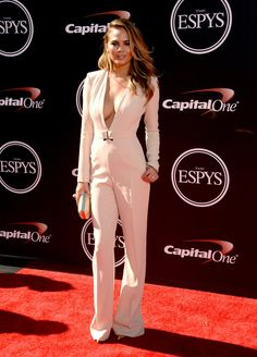 Pin for Later: Celebrities Share the Spotlight With Sports Stars at the ESPYs Chrissy Teigen