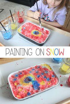 50 Ideas For Painting Kids Winter Art Activities Winter Activities For Toddlers, Snow Activities, Toddler Activities, Preschool Winter, Indoor Activities, Snow Much Fun, Snow Fun, Winter Kids, Winter Art