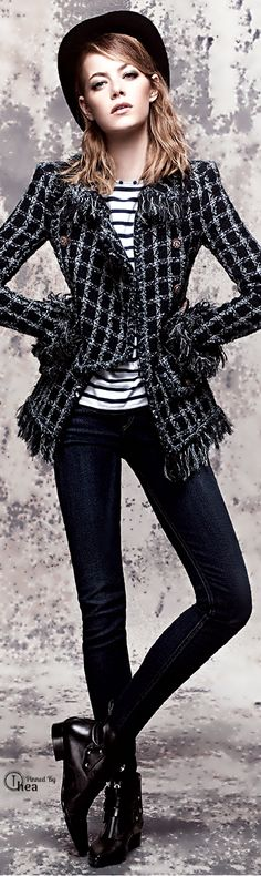 Chanel - love this jacket - Emma Stone