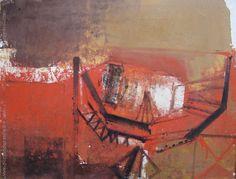 """Vicente Martín """"Abstracción naranja"""" Acrílico sobre tela  52 x 73 cm. Año 1960  Firmado arriba a la izquierda http://www.portondesanpedro.com/ver-producto.php?id=12301"""