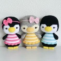 Penguins Pippa and Otto amigurumi pattern by RNata