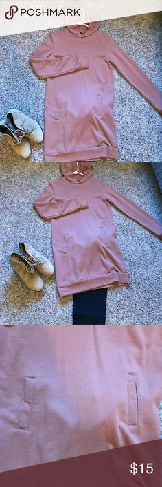 Lightweight long hoodie xs from forever 21 This is a lightweight long sleeve hoodie from forever 21, perfect length to go over leggings. Washed but never worn Forever 21 Tops Sweatshirts & Hoodies