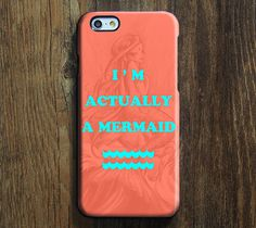 I Am Actually Mermaid Design iPhone 6 Case/Plus/5S/5C/5/4S Protective Case – Acyc