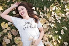 Sundays Are For Football Graphic Tee V Neck by simplysweetapparel