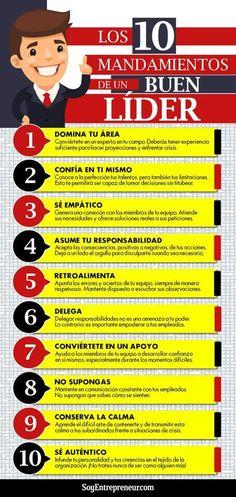 #Infografía || Los 10 mandamientos de un buen líder