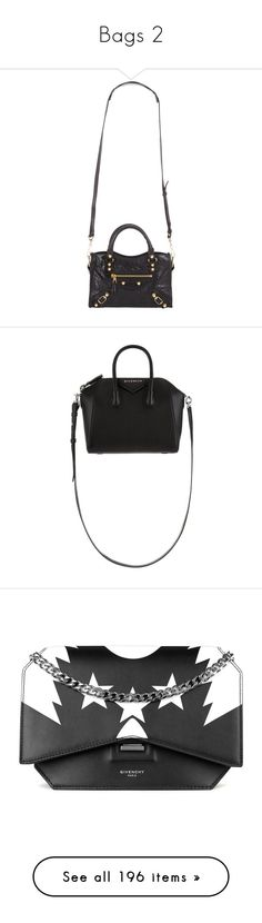 """""""Bags 2"""" by karinlinds ❤ liked on Polyvore featuring bags, handbags, city bag, travel purse, miniature purse, balenciaga purse, flat purse, tote bags, white purse and mini tote"""