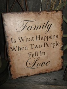 "Items similar to Primitive Large Wood Sign "" Family . Love "" Hand Painted Rustic Housewares Country Folk Art on Etsy Family Wood Signs, Rustic Wood Signs, Wooden Signs, Rustic Decor, Country Wood Signs, Pallet Art, Pallet Signs, Phrase Cute, Primitive Signs"