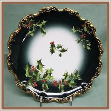 Limoges Christmas Holly Design Plate Tressman and Vogt Hand Painted & Absolutely love this piece... Iu0027ve looked high and low and canu0027t ...