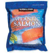 Costco Kirkland Signature Farmed Atlantic Frozen Salmon 3 lb
