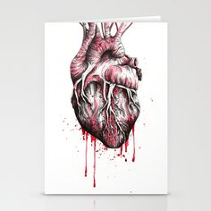 and put the heart I have laid bare Stationery Cards by Julia Bramer