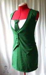 Green Hornet cosplay costume dress [sold]
