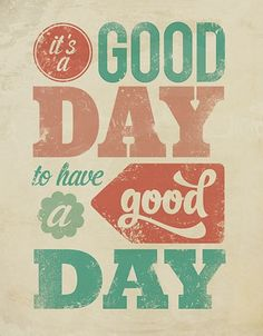Wonderful Words   It's a Good Day