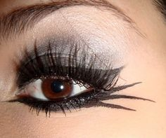 #MakeupTips #beauty Simple yet pretty and easy to do #EyeMakeup for #Halloween day.  Click here for such look...