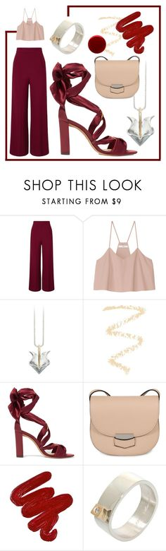 """💋💋💋"" by avagoldworks ❤ liked on Polyvore featuring Roland Mouret, TIBI, Topshop, Alexandre Birman, CÉLINE, Obsessive Compulsive Cosmetics, Burberry and avagoldworks"