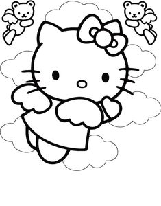Free Hello Kitty Coloring Pages (Activity for Party)