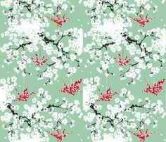 cherryblossom fabric by johanna_design on Spoonflower - custom fabric