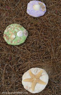 Turn Vacation Souvenirs into Salt Dough Stepping Stone Keepsakes