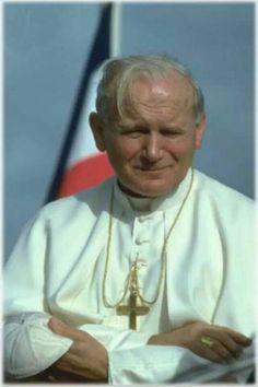 Saint John Paul II Paul 2, Pope John Paul Ii, Catholic Saints, Roman Catholic, Pape Jeans, Anima Christi, Papa Juan Pablo Ii, Papa Francisco, Blessed Mother
