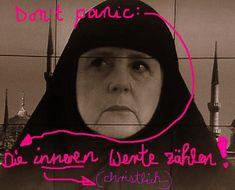 #Realsatire Don't panic (Keine Panik): Die inneren (christlichen) Werte zählen!