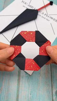 Cool Paper Crafts, Paper Crafts Origami, Creative Crafts, Diy Paper, Paper Art, Instruções Origami, Origami Videos, Oragami, Crafts For Kids