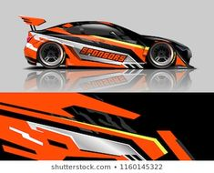 Similar Images, Stock Photos & Vectors of Car wrap design concept. Abstract racing background for wrapping vehicles, race cars, cargo van, pickup trucks, and racing livery. - 1446509246 | Shutterstock B13 Nissan, Car Paint Jobs, Racing Car Design, Bike Stickers, Racing Stripes, Automotive Art, Car Covers, Car Painting, Car Wrap