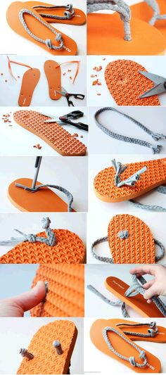How make sleeper Crochet Shoes, Crochet Slippers, Flip Flop Craft, Shoe Makeover, Flipflops, Painted Canvas Shoes, Diy Vetement, Shoe Pattern, Shoe Art