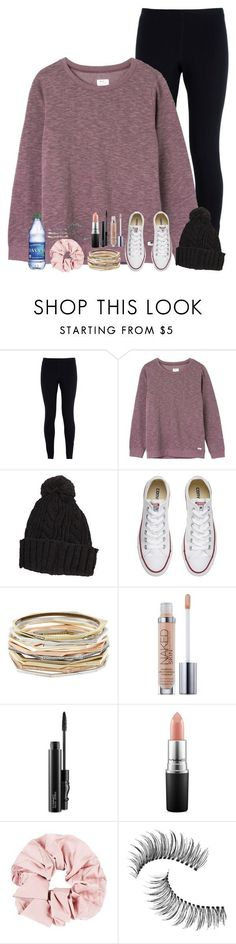 """get to see my babe today"" by rachiepoo13 ❤ liked on Polyvore featuring NIKE, RVCA, Converse, Kendra Scott, Urban Decay, MAC Cosmetics, Trish McEvoy and Guide London"