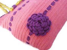 HANDMADE & KNITTED BAGS valentine for her  purple by modelknitting, $35.00