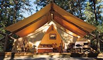 The Resort at Paws Up in Montana with luxury camping option