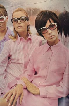 Vogue, 1965. Vintage sunglasses. 1960s fashion