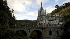 View of the Sanctuary de Las Lajas in Ipiales, Colombia. The Sanctuary de Las Lajas, built in the early 20th century, is located in the canyon of the river Guaitara, 10 km from the border with Ecuador and is visited daily by hundreds of people. (Luis Robayo/AFP/Getty Images)